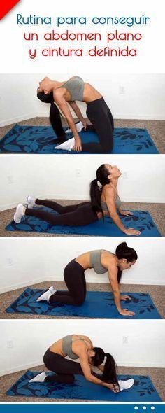Rutina para conseguir un abdomen plano y cintura definida #rutina #ejercicio #abdomen #plano #cintura #adelgazar