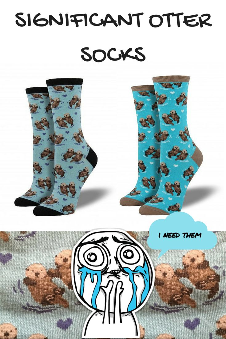 You otter buy these significant otter socks for your otter half