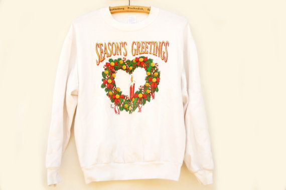 Vintage 90s Ugly Christmas Sweater Sweatshirt by SycamoreVintage