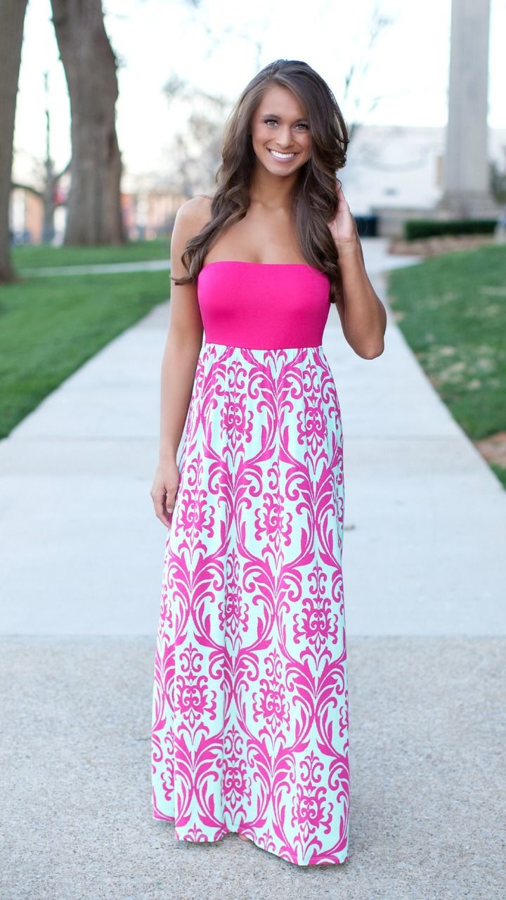 The Pink Lily Boutique - A Perfect Summer Damask Maxi CLEARANCE!!!, $32.00 (http://thepinklilyboutique.com/a-perfect-summer-damask-maxi-clearance/)