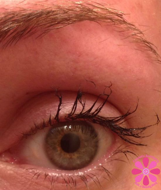 younique mascara fail ~ You can see the fibers ...