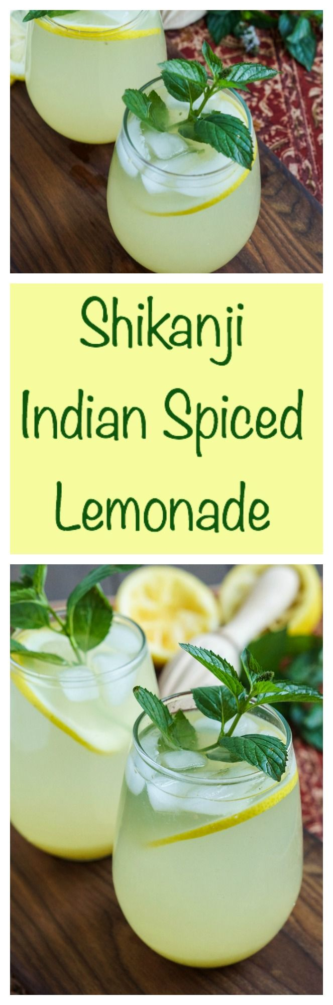 Shikanji (Indian Spiced Lemonade)