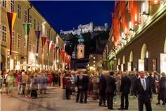 Großes Festspielhaus Salzburg zur Festspielzeit