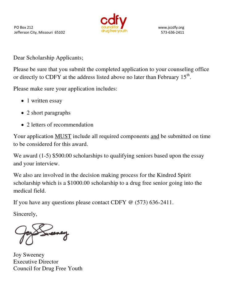scholarship resume format