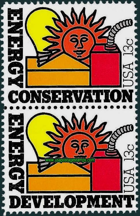 Commemorative Stamp | Commemorative Stamps: Energy Conservation and Development Issue 1977