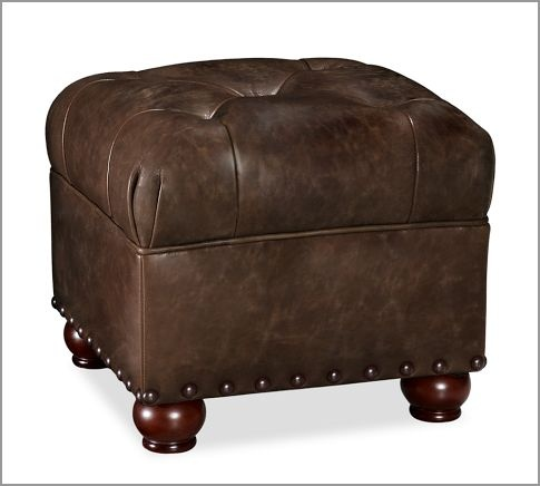 Oliver Leather Cube | Pottery Barn