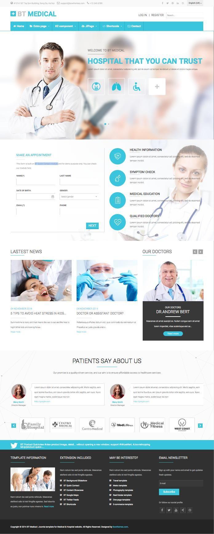 BT Medical Joomla Healthcare Template wwwtemplates4allcom