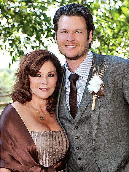 "Country Stars' No. 1 Fans: Their Mamas | BLAKE SHELTON | It's easy to see where Shelton gets his good looks. His mom Dorothy Shackleford cuts an elegant figure as they posed together at his 2011 San Antonio wedding to wife Miranda Lambert. Mom and son are so tight they penned a song together, ""Time For Me to Come Home,"" which shares a name with Shackleford's 2013 Christmas-themed novel."