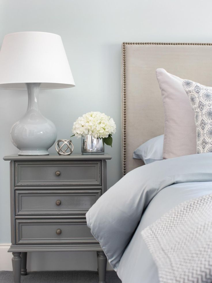 Pretty blue with grey room...several pics...Welcoming Guest Bedroom Ideas for Winter Visitors | Home Remodeling - Ideas for Basements, Home Theaters & More | HGTV