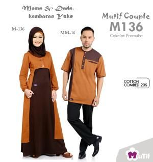 Sarimbit Moms & Dads Mutif Couple M-136 Cokelat