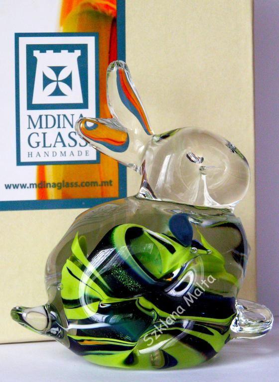Zajączek figurka szklana Mdina Glass -22%