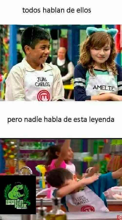 Memes De Juan Carlos Y Amelie De Master Chef Junior
