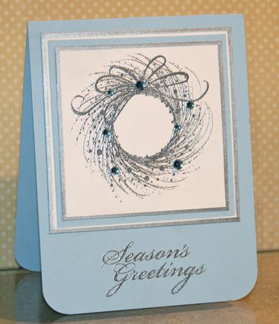 I make and send nearly 100 cards each year. And even though Christmas is never a surprise I seem to scramble every year to get them done. I make several kinds. The first card I made, I must admit, was...