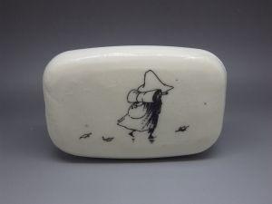 Włóczykij (klasyczny), Muminki, decoupage na mydle, soap decoupage