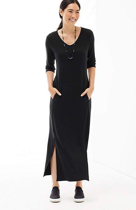 1d0f14e2c5d Image for Pure Jill Luxe Tencel® V-Neck Maxi Dress from JJill
