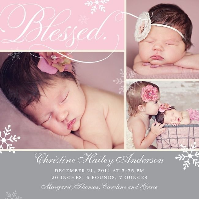 Baby Girl Announcement Baby I Love You Pinterest Birth