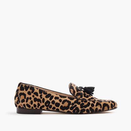 Charlie tassel loafers in leopard calf hair