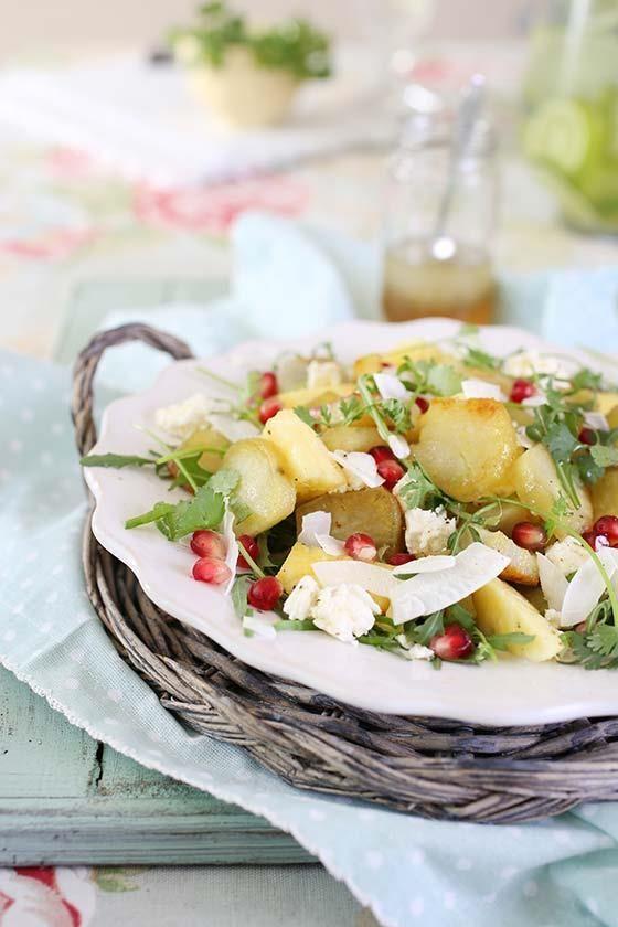 Sweet potato and rocket #salad | Patat- en-roket-slaai