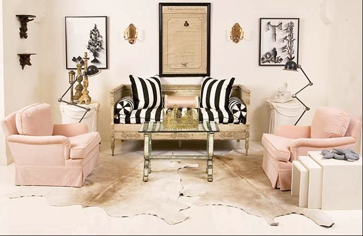 Black And White Stripe Home Pinterest Living Rooms
