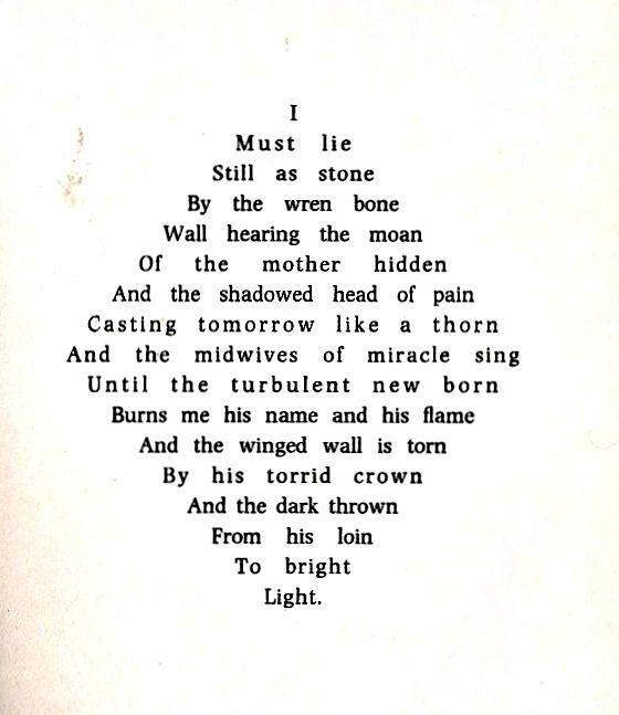 """I / Must lie"" -- Dylan Thomas"