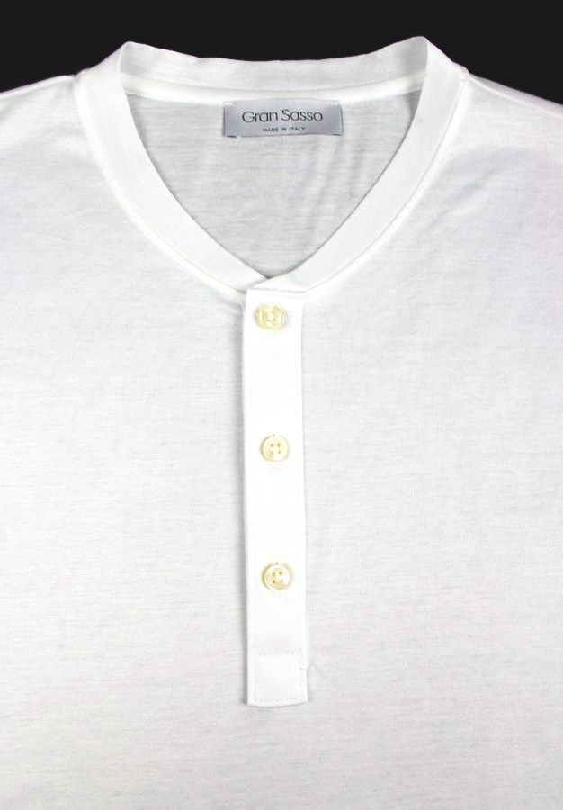 Men's GRAN SASSO White Extrafine Cotton  Henley Shirt  |  Have at it! http://www.frieschskys.com/all-shirts  |  #frieschskys #mensfashion #fashion #mensstyle #style #moda #menswear #dapper #stylish #MadeInItaly #Italy #couture #highfashion #designer #shopping