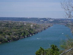 Mount Bonnell is a lookout point on Lake Austin with a panoramic view of the city and the surrounding hills. Hike up the stairs and take a picture at the top... it's basically a right of passage.