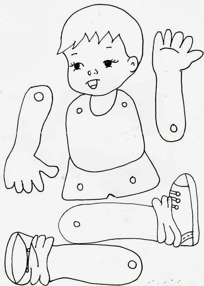 Картинки для аппликации части тела