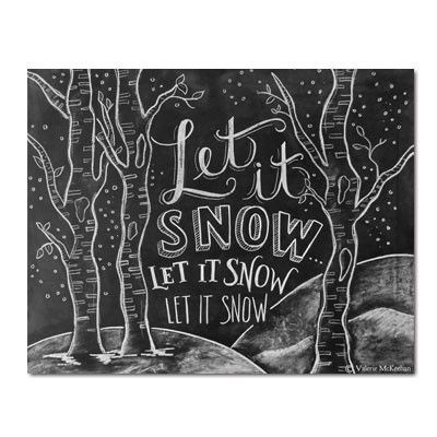 Let It Snow Woodland - Print - Lily & Val