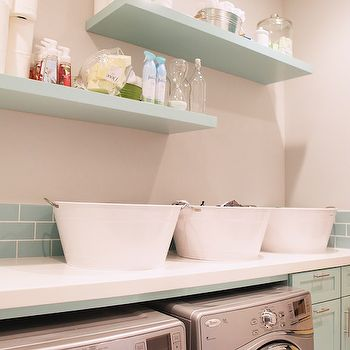 Turquoise Laundry Room, Contemporary, laundry room, Brooke Jones Designs