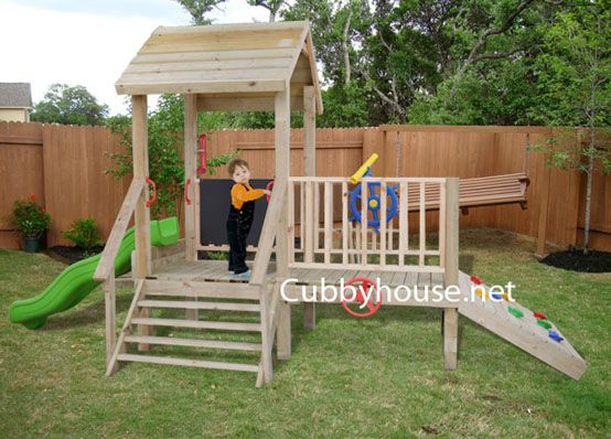 Homemade wooden swing set woodworking projects plans for Play yard plans