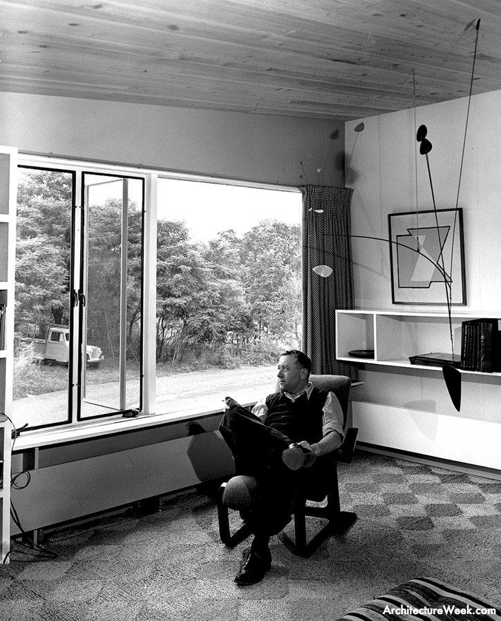 Marcel Breuer looking out of his window