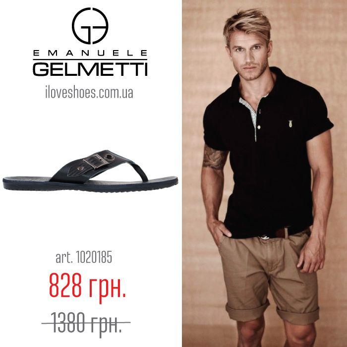 И так, сандалии и шлепанцы считаются одним из самых удобных видов обуви. Придуманы они специально для лета и жаркой погоды. Представляем вашему вниманию шлепанцы из кожи черного цвета торговой марки Emanuele Gelmetti. Плоская подошва высотой 1 см. Открытый закругленный носок. Без застежки.