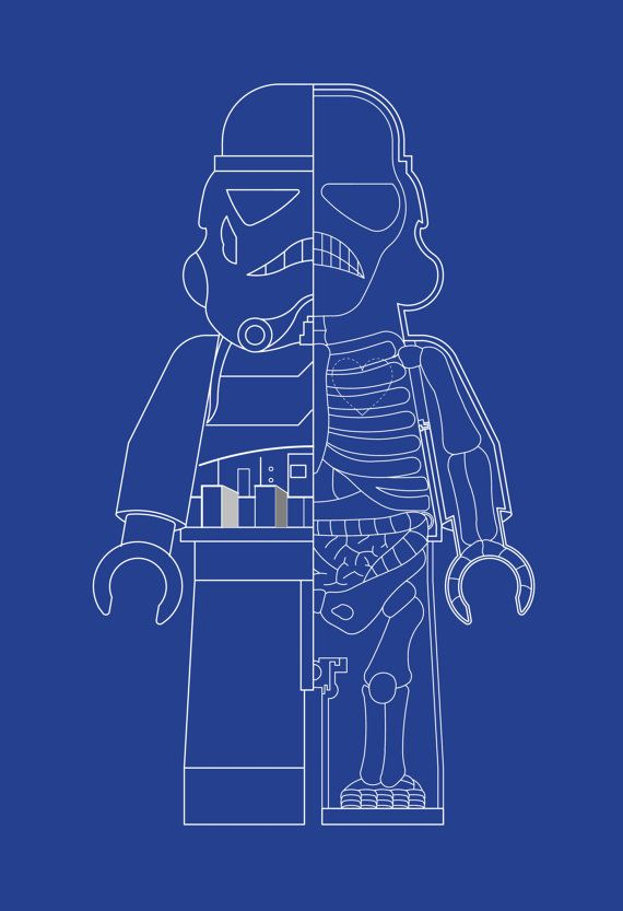 Stormtrooper Star Wars Inspired LEGO MAN XRay Art by BARDARON, $29.00