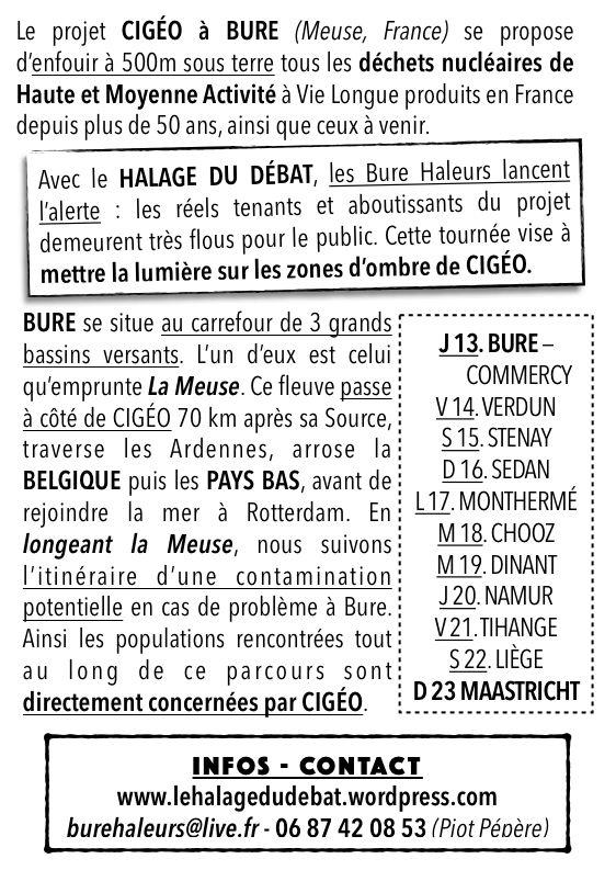 Le Halage du Débat | Sur le projet d'enfouissement de déchets nucléaires à BURE! (55)