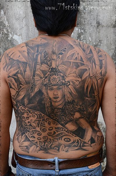 borneo head hunter tattoo