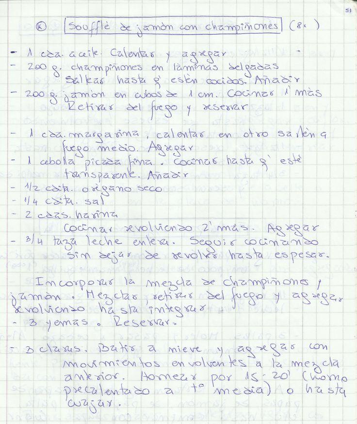 SOUFFLE DE JAMON CON CHAMPIÑONES   #SALADO #PLATOS #BUDIN #JAMÓN
