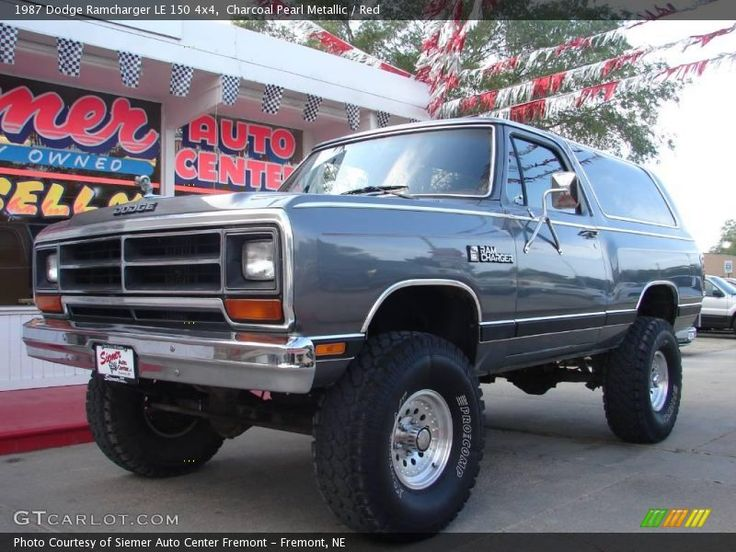 Charcoal Pearl Metallic / Red 1987 Dodge Ramcharger LE 150 4x4