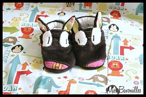chaussons loups