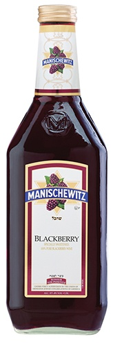Manischewitz Blackberry: According to the winemaker, this 100% Blackberry wine is not surprising reminiscent of the aromas and flavors of fresh, blackberry jam.