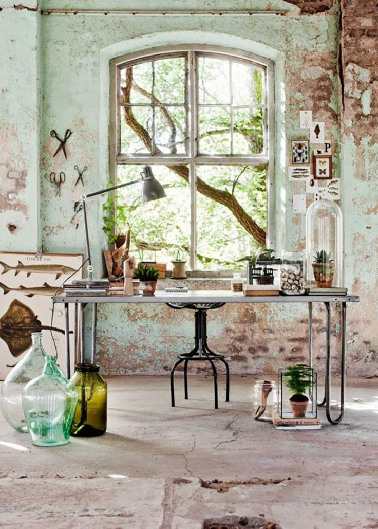 I would love an indoor but yet all natural feeling and looking creative space..