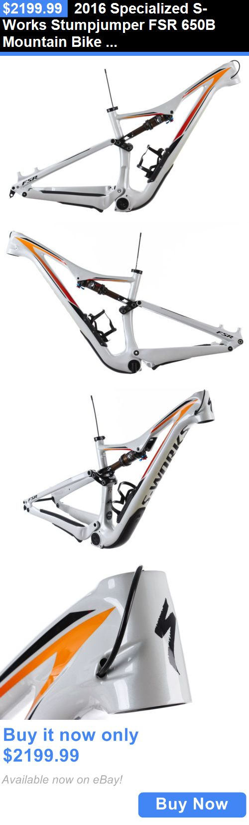 bicycle parts: 2016 Specialized S-Works Stumpjumper Fsr 650B Mountain Bike Frame Small 27.5 BUY IT NOW ONLY: $2199.99