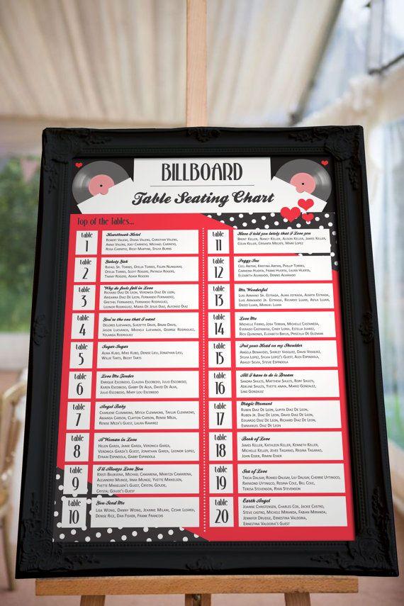 音楽関係者や音楽好きにぴったり♡結婚式の赤い個性的な席次表のまとめ一覧♡