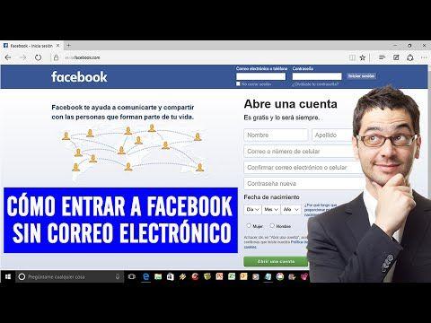 COMO ENTRAR A FACEBOOK SIN CORREO ELECTRONICO (2015) - YouTube