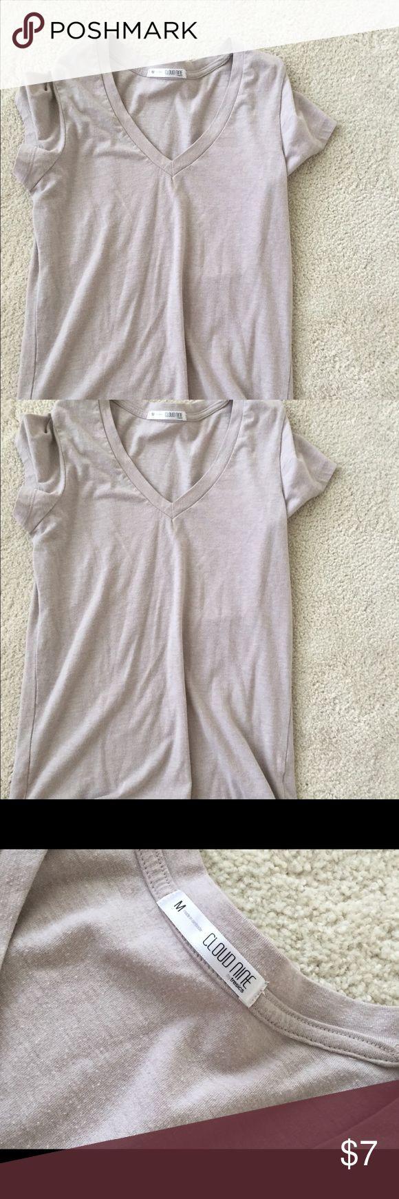 Beige tee shirt Beige tee shirt. Size M. Cloud 9 Tops Tees - Short Sleeve
