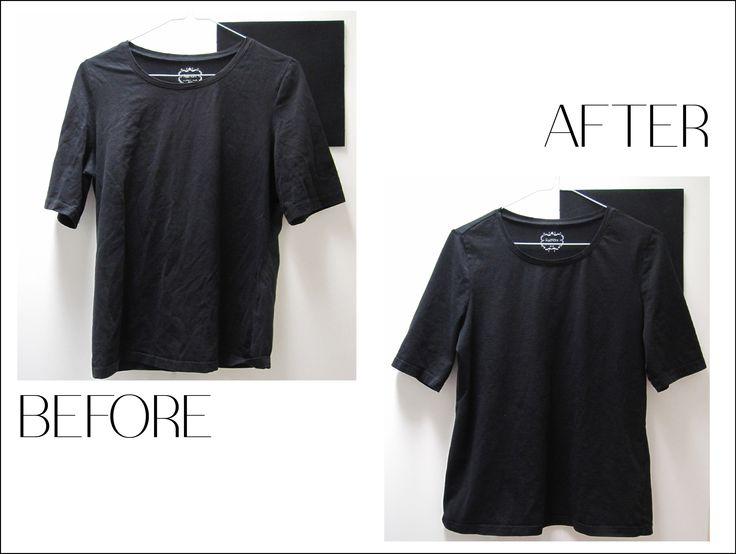 How to dye a black dress white