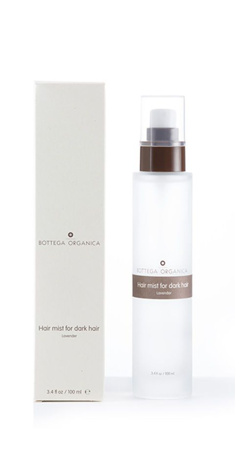 Bottega Organica Lavender Hair Mist, $68; bottegaorganica.com Hair is a great place to spray perfume, as the fragrance sticks well to strands (which then in turn act like natural diffusers). This formula has the added benefit of rosemary extract, which enhances shine, as well as sage, which is great for the scalp.