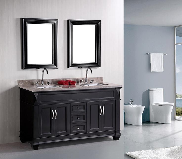 Image Gallery For Website Hudson inch Double Sink Bathroom Vanity DECC by Design Element