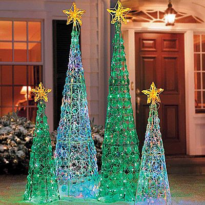 delight in the icy beauty of our crystal cone trees these unique holiday decorations have random twinkling lights - Random Twinkle Christmas Lights