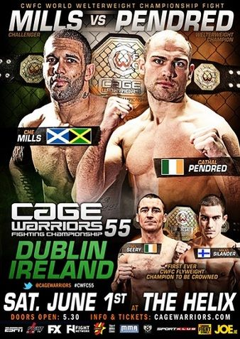 02.06.2013 Cage Warriors 55 Ergebnisse - Results