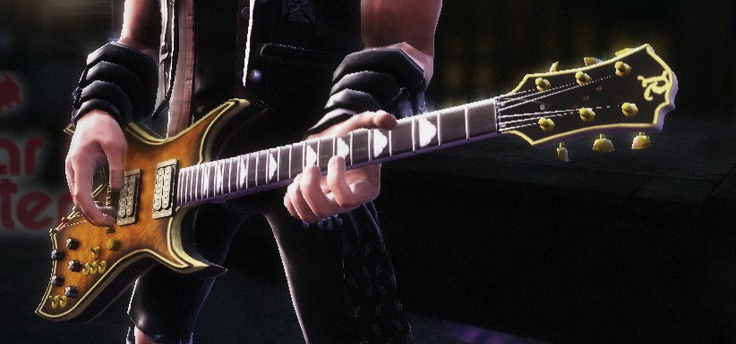 BC Rich guitar built for Guitar Hero 6 in 3DS MAX and textured in PhotoShop